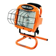 Designers Edge L33 500-Watt Portable Halogen Work Light with Weatherproof Switch, 18-Gauge Cord, Orange