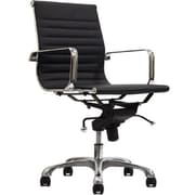 Manhattan Comfort Delancey Mid-Back Adjustable Office Chair in Black (MC-613- BL)