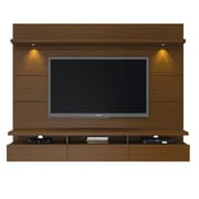 Manhattan Comfort Cabrini 2.2 Floating Wall Theater Entertainment Center in Nut Brown(23351)