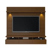 Manhattan Comfort Cabrini 1.8 Floating Wall Theater Entertainment Center in Nut Brown(23251)