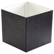 "Clay Coat News Back 6""H x 6""W x 6""L Gift Box Bottom, Black, 50/Pack"