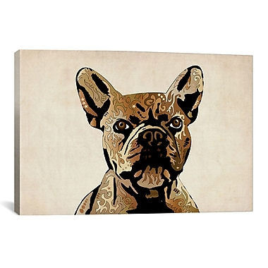 iCanvas Michael Tompsett 'French Bulldog' Graphic Art on Canvas; 8'' H x 12'' W x 0.75'' D