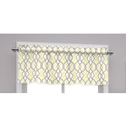Traditions by Waverly Make Waves Tailored 52'' Curtain Valance; Sterling
