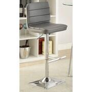 Wildon Home   Adjustable Height Bar Stool; Gray