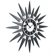Mid Century Decor 20'' Modern Starbust Eyelash Clock