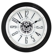 Mid Century Decor 15'' Motion See Thru Gear Clock