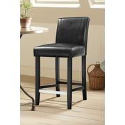 Wildon Home   Bar Stool with Cushion; Black