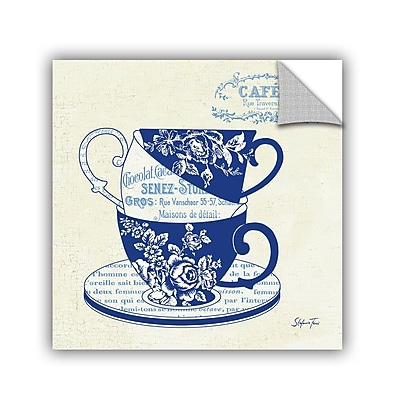 ArtWall Blue Cups 3 Wall Mural; 18'' H x 18'' W x 0.1'' D WYF078278655610