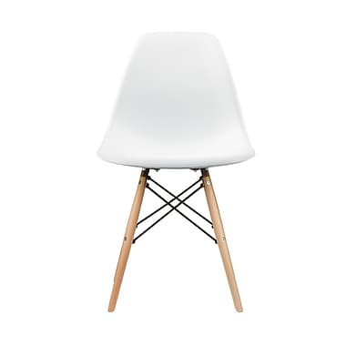 Eames NR6102-WT Side Chair, White