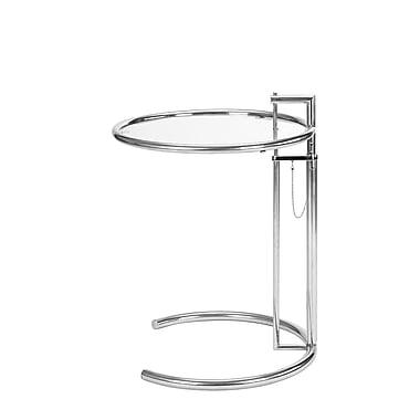 Eileen NR11002 End Table, Chrome/Glass