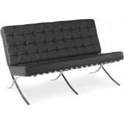Barcelona 3 Seater Sofa, Black