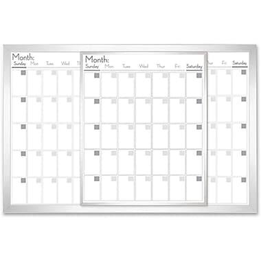 "Lorell® Magnetic Dry-Erase Calendar Board, 36"" X 24"""