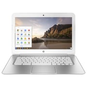 "HP Chromebook (14-Ak010nr) 14"" Intel Celeron N2840 Dual-Core, 2.16 Ghz, White/Silver,Chrome OS"