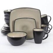 Gibson® Soho Lounge Square 16-Piece Dinnerware Set, Beige (105995.16)