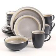 Gibson® Elite Central Ridge Stoneware 16-Piece Dinnerware Set, Taupe, 107106.16