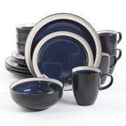 Gibson® Elite Central Ridge Stoneware 16-Piece Dinnerware Set, Cobalt, 107107.16