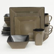 Gibson® Elite Kiesling Stoneware 16-Piece Dinnerware Set, Taupe, 107277.16
