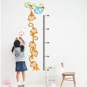 Pop Decors Monkeys Growth Chart Wall Decal