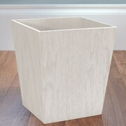 LaMont Meadow Wood Trash Can; White