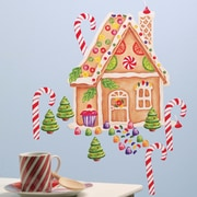 Wallies Gingerbread House Vinyl Holiday Wall Decal (Set of 2)