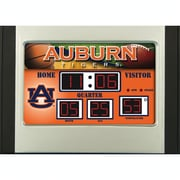 Team Sports America NCAA Scoreboard Desk Clock; Auburn