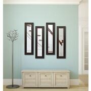 Rayne Mirrors Molly Dawn Espresso Bricks Mirror Panels (Set of 4); 34.5'' H x 8.5'' W x 0.75'' D