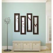 Rayne Mirrors Molly Dawn Barnwood Brown Mirror (Set of 4); 29.75'' H x 15.75'' W x 0.75'' D