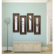 Rayne Mirrors Molly Dawn Bronze and Black Mirror Panels (Set of 4); 42.75'' H x 18.75'' W x 0.75''D