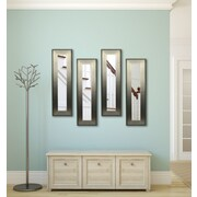 Rayne Mirrors Molly Dawn Brushed Silver Mirror Panels (Set of 4); 30.5'' H x 12.5'' W x 0.75'' D