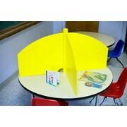 The Carrel Store Plastic 20.5'' Table Top Study Carrel