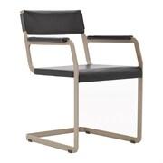 Argo Furniture Horatio Arm Chair; Leather Dark Brown