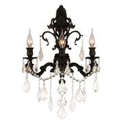 Worldwide Lighting Versailles 3 Light Wall Sconce; Dark French Gold