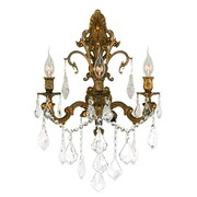 Worldwide Lighting Versailles 3 Light Wall Sconce; French Gold