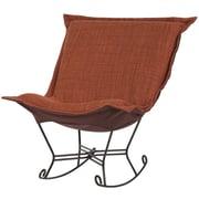 Howard Elliott Puff Scroll Rocking Chair; Coco Coral