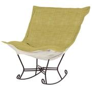 Howard Elliott Puff Scroll Rocking Chair; Coco Peridot