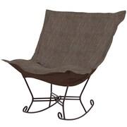 Howard Elliott Puff Scroll Rocking Chair; Coco Slate