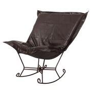 Howard Elliott Puff Scroll Rocking Chair; Avanti Black
