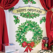 Wallies Merry Christmas Holiday Wall Decal (Set of 2)