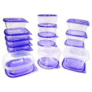 Imperial Home 30-Piece Plastic Food Container Set; Purple