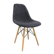 eModern Decor Mid Century Modern Woven Fabric Upholstered Side Chair; Black
