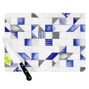 KESS InHouse Winter Geometry by Kira Crees Cutting Board; 11.5'' H x 8.25'' W x 0.5'' D