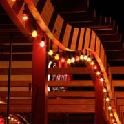 American Lighting LLC Medium Base Suspended Bulk Reel String Lighting; Black