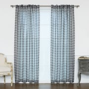Best Home Fashion, Inc. Houndstooth Print Sheer Single Curtain Panel; Black