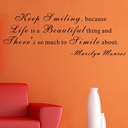 Pop Decors Life is a Beautiful Thing- Marilyn Monroe Wall Decal