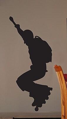Wallhogs Roller Blade Silhouette III Cutout Wall Decal; 60'' H x 28'' W WYF078278162081