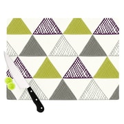 KESS InHouse TextuTriangles by Laurie Baars 8.25'' Cutting Board