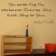 Pop Decors You Are The Only One- Edward Cullen Wall Decal