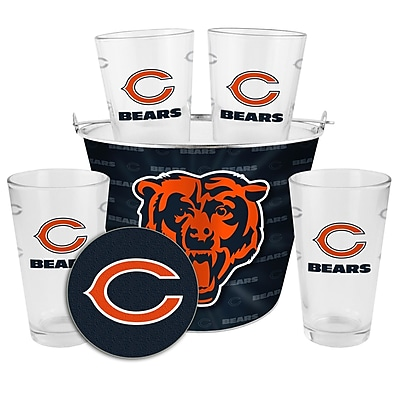 Boelter Brands NFL 9 Piece Gift Bucket Set; Chicago Bears WYF078278314803
