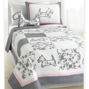 Cozy Line Home Fashion Scottie Pup Quilt Set; Twin