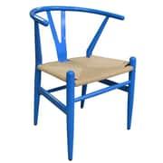 PoliVaz Wishbone Side Chair; Blue